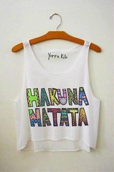 Hakuna Matata!! would be cute with hot pink cami under and shorts, or with high waist shorts