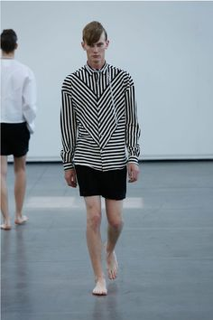 THIS CAN BE DONE Keep-  geometric stripes Add- -have the diagonals stop at the arm, simple cut and sew