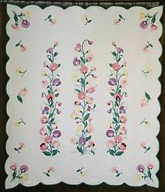 floral applique quilts -