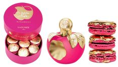 It is always interesting to see how two brands can team up and write a chapter of their brand histories together. Fashion house Nina Ricci and famous French pastry maker, Ladurée, have recently come together to create a scent inspired by macaroons and a macaroon inspired by scent.