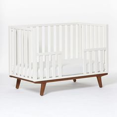 Discover Pottery Barn Kids' collaboration with West Elm for a mid century modern nursery. Find mid century modern cribs, bedding and more that ensure style and safety in your nursery.