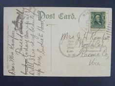 North Cape Wisconson WI 1908 Type 3/3 Doane Kilbourn Duplex Cancel Postcard DPO