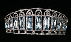 Empress Alexandra Feodorovna's diamond and aquamarine kokoshnik tiara.