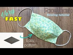 [VERY FAST] Easy pattern – How to make a fabric face mask with filter pocket – no sewing machine – Maske nähen Sewing Hacks, Sewing Tutorials, Sewing Patterns, Easy Face Masks, Diy Face Mask, Pocket Pattern, Free Pattern, Creation Couture, Old T Shirts