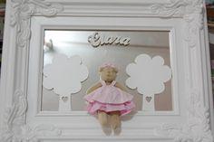 Moldura Rococó com espelho e ursinha - Infinita Arte for Baby