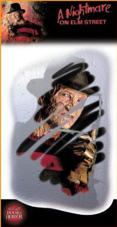 Halloween Decorations Freddy Face Mirror Decals.