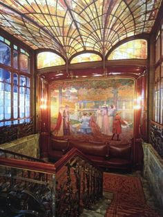 Victor Horta (1861-1947) The Hôtel Solvay, Brussels, V.Horta design  1894-1898 The honors staircase seen from the landing of the bel étage.