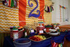 Birthday party table setup
