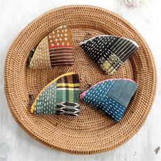 カラフルなファスナーがかわいい!和布で作る小さなポーチの作り方(布小物) | ぬくもり