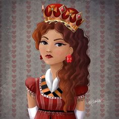 Young and Pretty Queen of Hearts by kristen reeves @kristenkreevesart | Websta