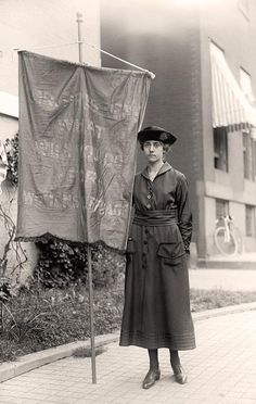 Woman Protester; Woman Suffrage. Suffragettes With Banners. It was made in 1918 by Harris & Ewing.