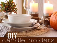 DIY Candles DIY Rustic Candle Holders DIY Candles