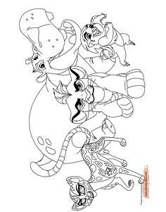 die garde der löwen 7 ausmalbilder für kinder. malvorlagen