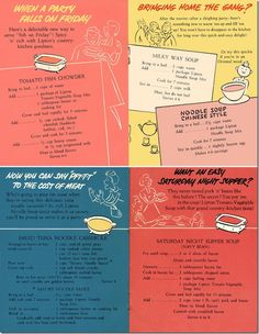 Four vintage Lipton soup recipes Retro Recipes, Old Recipes, Vintage Recipes, Cookbook Recipes, Cooking Recipes, What's Cooking, Cooking Ideas, Vintage Advertisements, Recipes