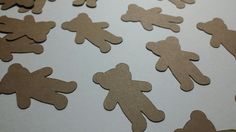 FREE SHIPPING Brown Teddy Bear Confetti 100 Pieces, Baby Birthday Party, Baby Shower, Baby Girl, Baby Boy, Doll Confetti, Pregnancy News by madgicalcreations on Etsy