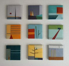 landscape squares - lots of different 'homework/play studies' of different elements - wonderful approach to design