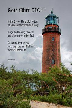 Gott führt Dich! Möge Gottes Hand dich leiten, was auch immer kommen mag! ... Nelli Müller