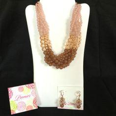 Bubble bath necklace $67, earrings $24  To order...  email: wearpremier@gmail.com  ph #: 910-297-9005