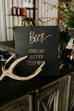 Beer calligraphy sign
