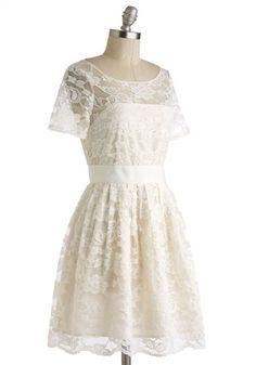BB Dakota BB Dakota Adrift on a Cloud Dress in Ivory   Mod Retro Vintage Dresses   ModCloth.com