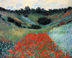 Claude Monet, Poppy Field in a Hollow near Giverny, 1885