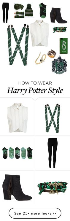 """""""Slytherin Suspenders!!"""" by harry-potter-is-my-life on Polyvore featuring Miss Selfridge, Rebecca Minkoff, Queensbee and Max Studio"""