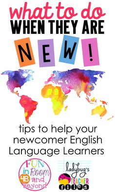 To Do When They Are New Tips to help your newcomer English Language Learners.Tips to help your newcomer English Language Learners. Ell Strategies, Ell Students, Bilingual Education, Early Education, Kids Education, Teaching English, English Language Learners Elementary, Teaching Spanish