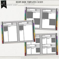 recipe book templates 85x11