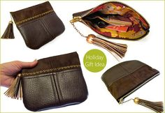 Quick & Cool Holiday Gift: Tasseled Clutch in Faux Leather