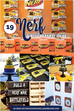 19 Incredible Nerf Party Ideas - a fun party theme idea for tweens.