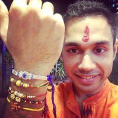 Done! Happy me. Rakhi's are tied :) #happy #rakhi #rakshabandhan