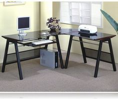 L Shaped Office Desk | Contemporary L Shaped Home Office Desk, L Desks