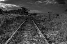 "Saatchi Art Artist johann kruger; Photography, ""Tracks"" #art Railroad Tracks, Saatchi Art, Landscapes, African, Explore, Black And White, Artist, Photography, Paisajes"