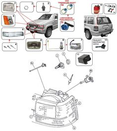 21 best 93 98 grand cherokee zj parts diagrams images jeep parts 1997 grand cherokee parts diagram grand cherokee zj lighting parts