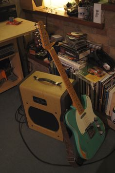 Ive decided to keep my electric and just invest in a P-bass. Music Aesthetic, Aesthetic Rooms, Aesthetic Grunge, Aesthetic Vintage, Fender Telecaster, Fender Guitars, Vintage Guitars, Cool Guitar, Music Stuff