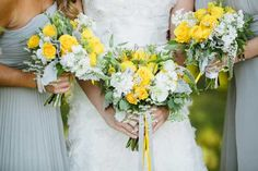 Yellow and white summer wedding Bridal Bouquets, Summer Wedding, Chelsea, Floral Wreath, Wreaths, Yellow, Design, Decor, Wedding Bouquets