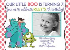 Custom Made Monsters Inc Birthday Party by JessiesLetters on Etsy, $11.00