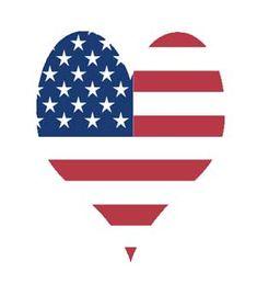 Go Team USA - love usa heart clip art
