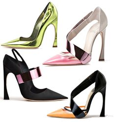 winter season Christian Dior high heel shoes