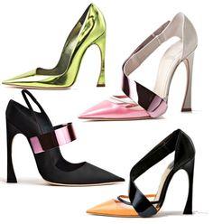 winter season Christian Dior high heel shoes