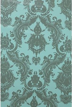 I love this wallpaper, but I think I'd like it in a different color. Maybe dark turquoise.
