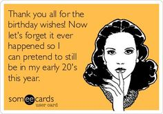 funniest thanks for the birthday posts wishes - Google Search