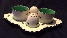 """RARE"" 1930's BURLEIGH WARE Egg Cups/Cruet Set Art Deco in Antiques, Periods & Styles, Art Deco | eBay"