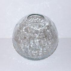 Modern Crackled Glass Blenko Fish Bowl by Abundancy on Etsy, $165.00