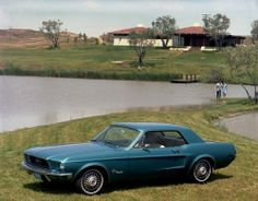 (via Fifty years of Ford Mustang colors Blue 1968 Ford Mustang Hardtop – Mustangs Daily) Ford Mustang 1964, 2015 Mustang, Ford Mustang Shelby, Car Ford, Ford Mustangs, Pony Car, Mustang Interior, Automobile, Classic Mustang