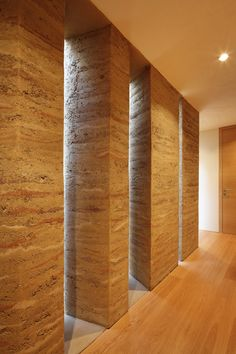 Rammed Earth - House Gulm / Aicher Ziviltechniker GmbH. Photograph by Norman Müller