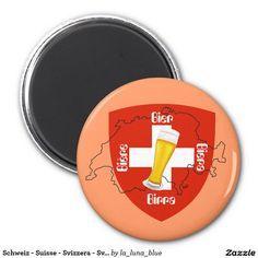 Schweiz - Suisse - Svizzera - Svizra - Switzerland Runder Magnet 5,1 Cm