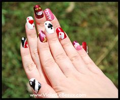 Alice in Wonderland Nails by Violet LeBeaux