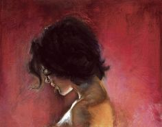 Study on red background by Robin Archer