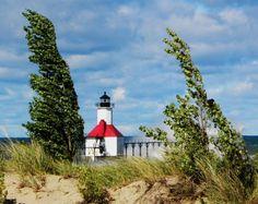 Autumn Breeze - St. Joseph Lighthouse by Kathleen Mendel